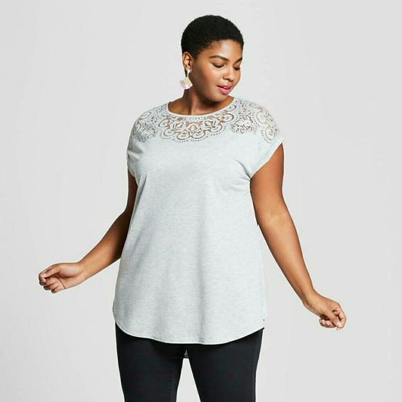 ca6e8d8f486 Ava   Viv Tops - Plus Size Gray Shirt from Target